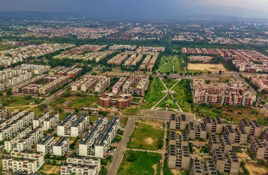 Top View of Chandigarh