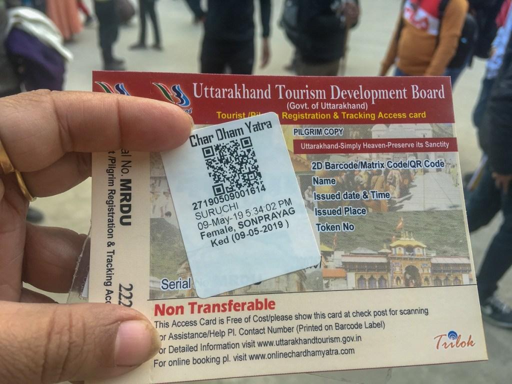 Char Dham Yatra Card