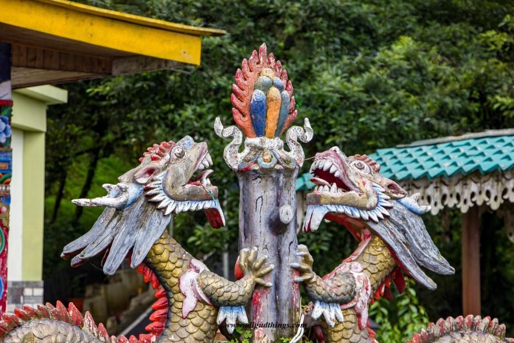 Dragon art at Tashi View Point in Gangtok