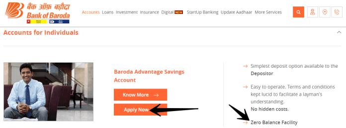 bank of baroda account open