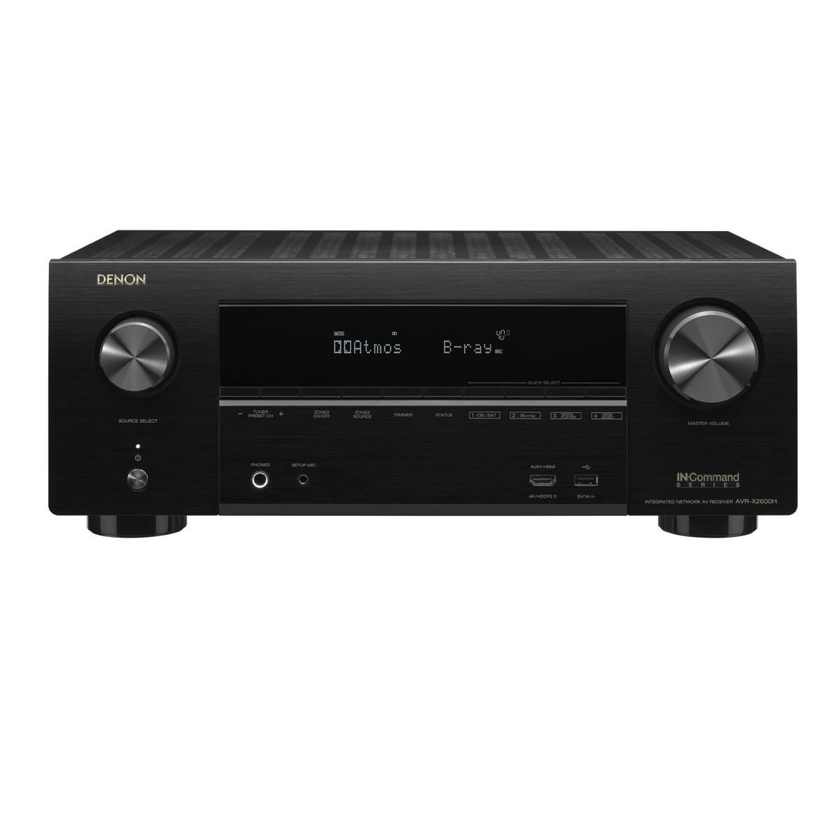 Denon AVR-X2600H - 7.2 Channel AV Receiver - All Home Living