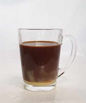 kopi in glass cup