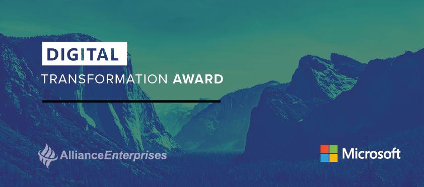 Microsoft Honors Alliance with Digital Transformation Award