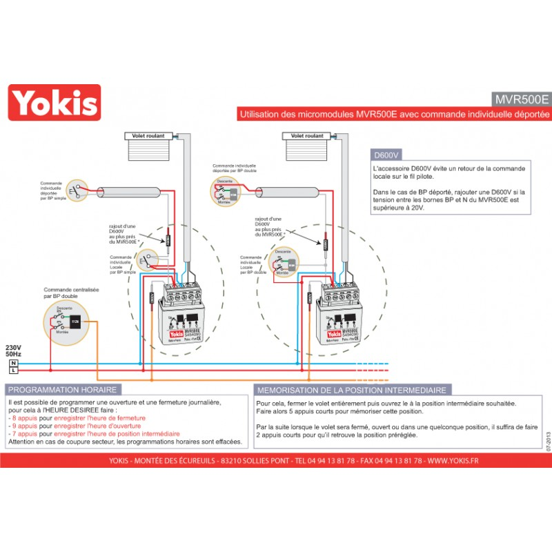 Micromodule Volet Roulant Yokis Mvr500e