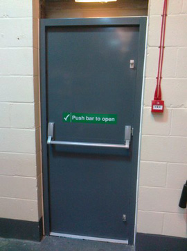 Fire exit doors Manchester steel fire doors supplied and installed in Manchester area