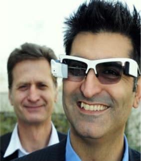 Kayvan Mirza et Khaled Sarayeddine, les deux co-fondateurs d'Optinvent. © Optinvent
