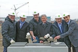 La 1ère pierre du centre logistique de Zalando à Larh (Allemagne), géré par Goodman, a été officiellement posée le 16 février