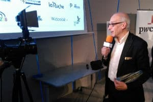 Albert Szulman, président de Be-Bound, lors de la remise du prix de la « startup de l'année » 2016. © Catherine Moal