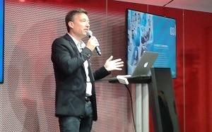 David Mingeon, directeur général adjoint d'Havas Paris, a présenté les tendances émergentes dans le retail. ©Célia Garcia-Montero