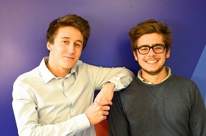 Étienne Moreau et Mathieu Geiler apprécient la pédagogie de l'école. ©Le Wagon