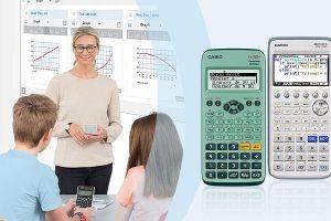 Pour Casio, l'utilisation de la calculatrice sera le meilleur moyen d'apprendre l'algorithme à l'école.  ©Casio