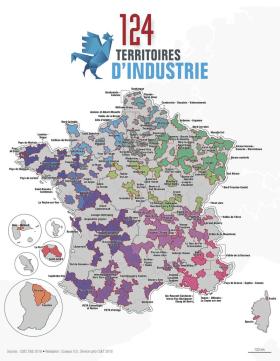 124 territoires d'industrie créés en France