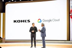 Thomas Kurian, CEO de Google Cloud et Ratnakar Kavu CTO de Khol's / © Google Cloud
