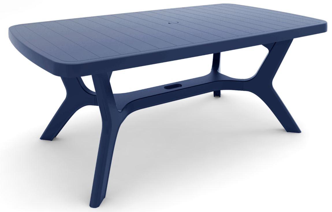 ALLIBERT Baltimore table de jardin Bleue  Allibert