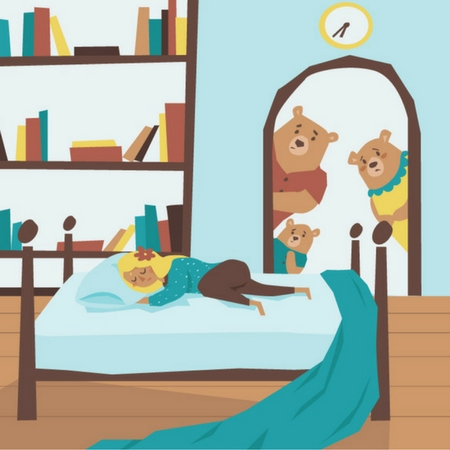 goldilocks and the three bears illustration