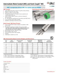 Imc and kwik couple also specification sheets allied tube  conduit electrical rh alliedeg