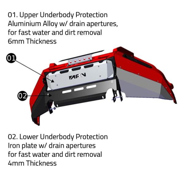 48002523 Ford Ranger Front Bumper Underside AFN