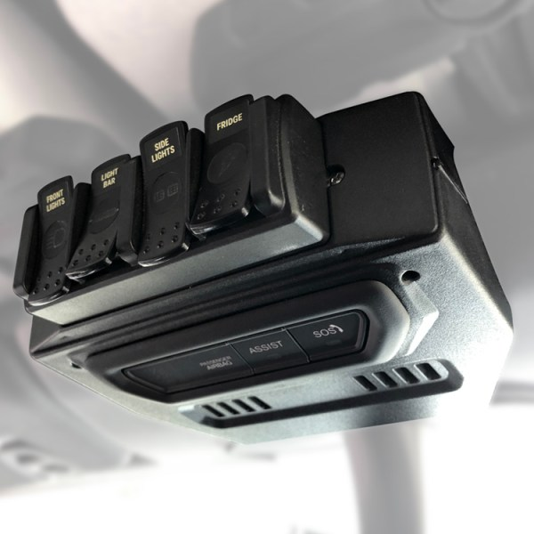 Trigger 4 Plus RF Remote Mount Overhead Installed in Jeep Wrangler JL