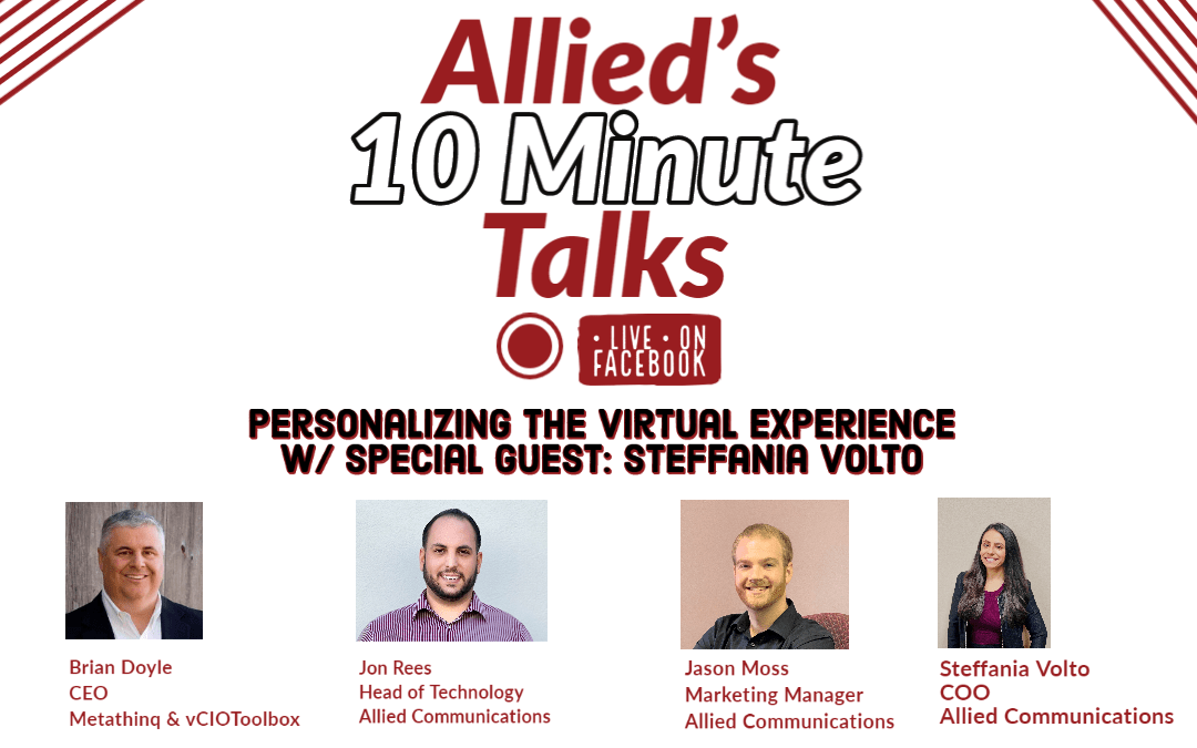 Allied's 10 Minute Talks – Personalizing Virtual Events