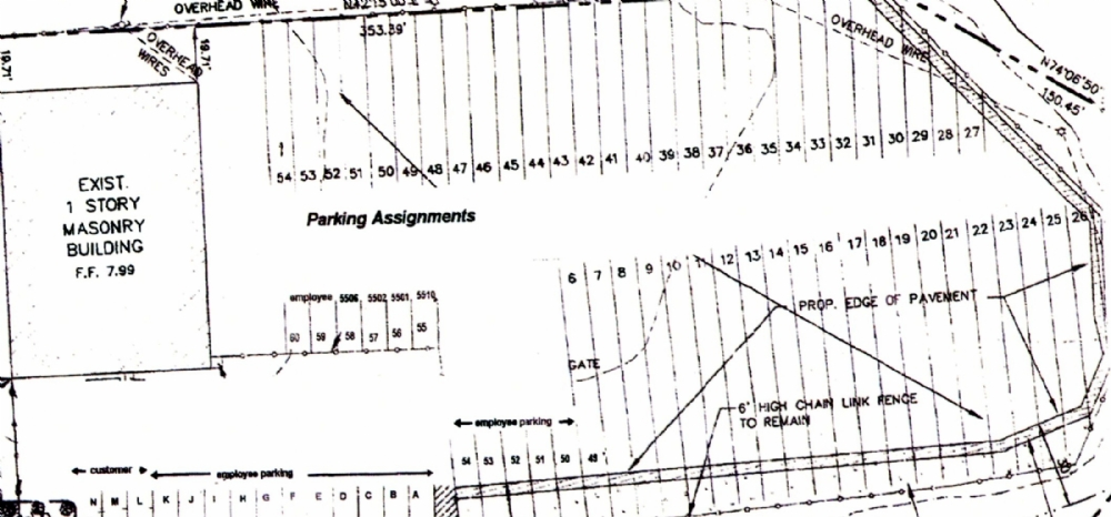 Tractor Trailer Truck Parking Lot Layout Dimensions