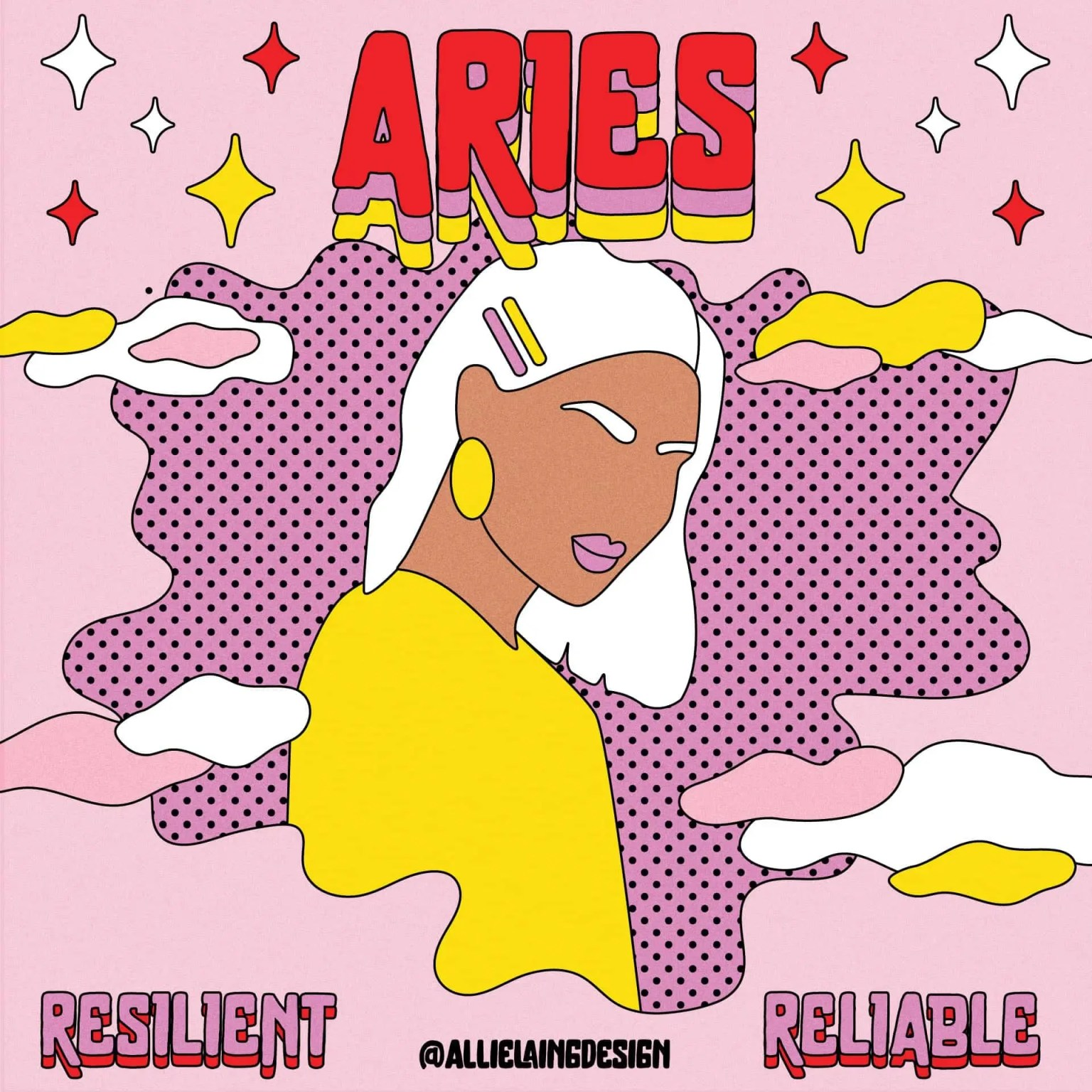 aries astrology sign stickers