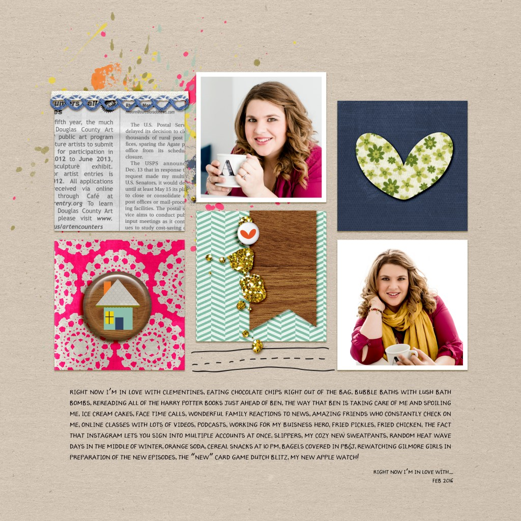 Allie Scraps | Layout | Loving Right Now