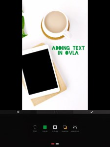 5 apps for gorgeous Pinterest graphics - main text options in OVLA