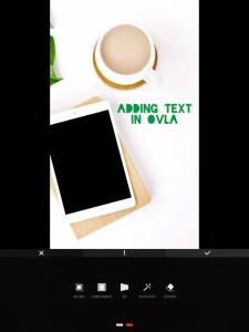 5 apps for gorgeous Pinterest graphics - text layout options in OVLA