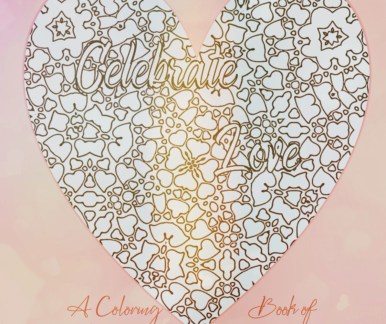 Celebrate Love quotes adult coloring book positive phrases valentine's cover