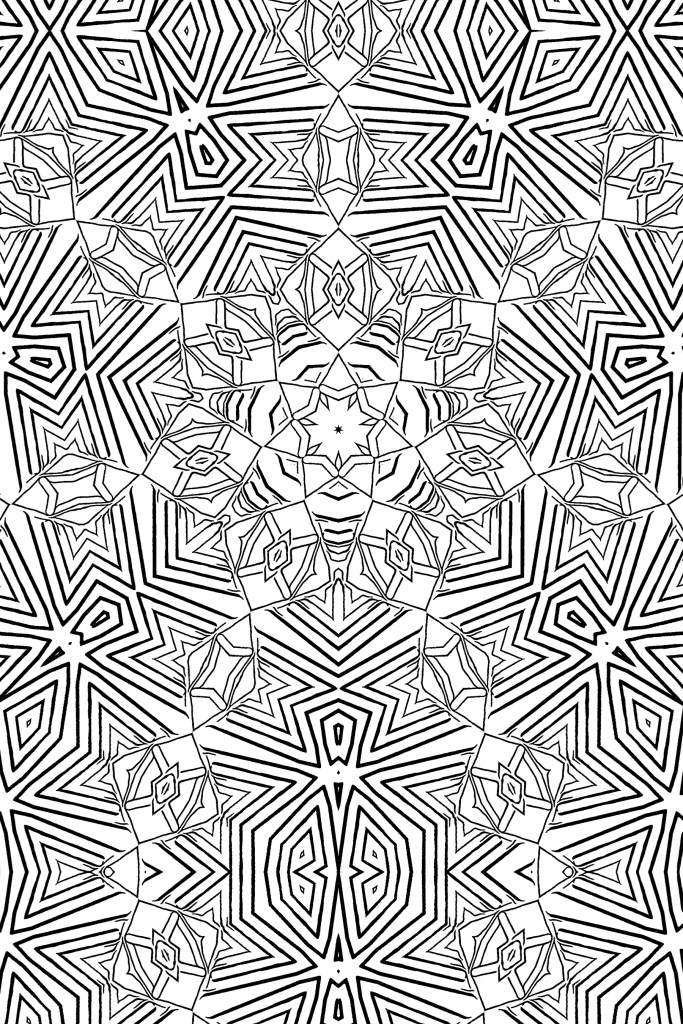 Hypno-Jagged Geometric Coloring Book