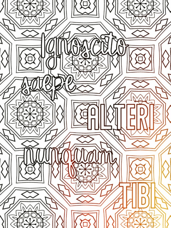All Latin to Me sample coloring phrase 4