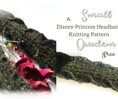 Small Diadem Disney Princess Headband free knitting pattern slider