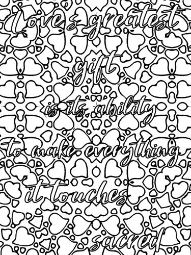 Love quote coloring book L