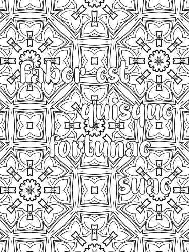 Latin phrase coloring book F