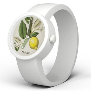 horloge met botanische citroen