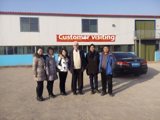 customer visiting candle factory