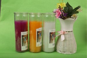 Glass candle 001