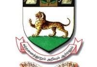 Madras University Faculty Hall Ticket
