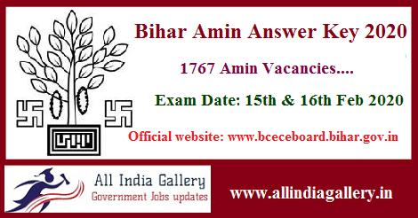 Bihar Amin Answer Key