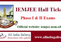 IEMJEE Hall Ticket