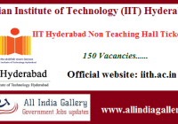 IIT Hyderabad Non Teaching Hall Ticket