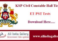 KSP CPC ET-PST Hall Ticket