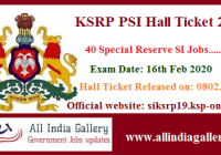KSRP PSI Hall Ticket