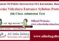 Adarsha Vidyalaya Syllabus