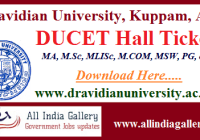 DUCET Hall Ticket