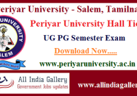 Periyar University Hall Ticket