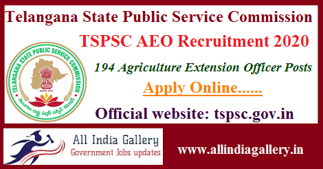 TSPSC AEO Recruitment 2020