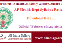 AP Health Dept Syllabus Pattern
