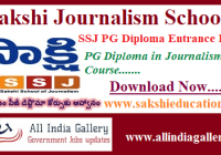 Sakshi Journalism School Notification