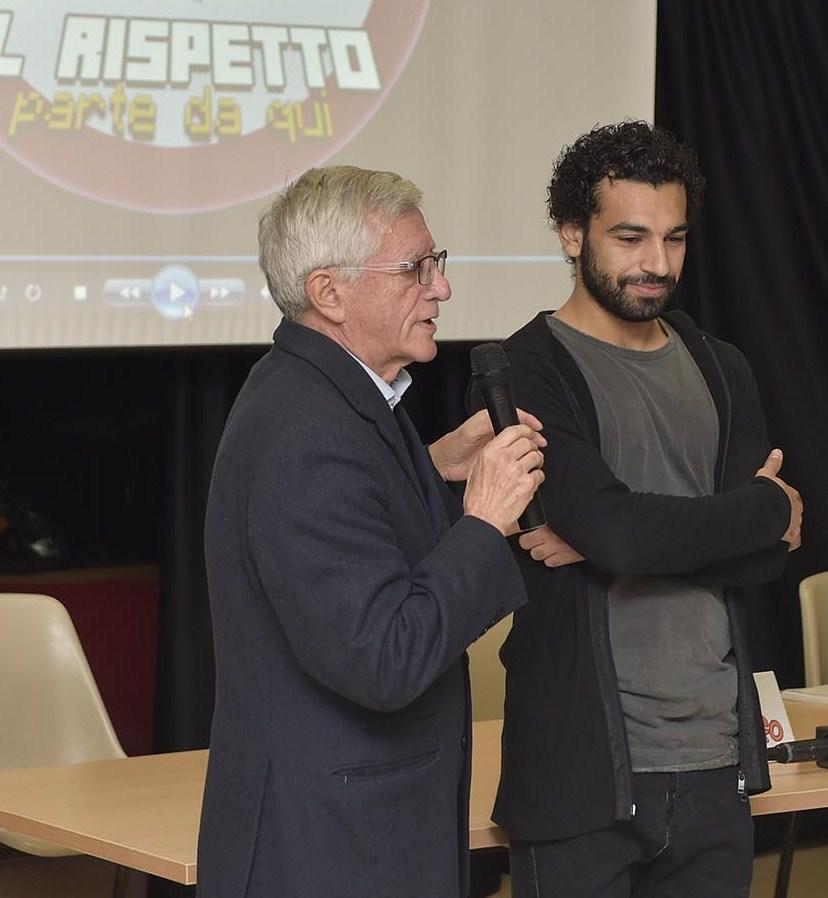 (foto) il coach Valerio Bianchini e il calciatore Mohamed Salah